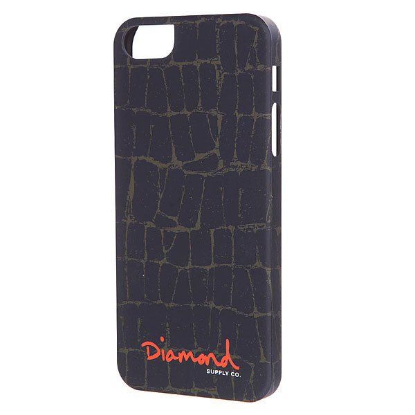 Чехол для iPhone 5/5S Diamond Croc Case Black butterfly bling diamond case
