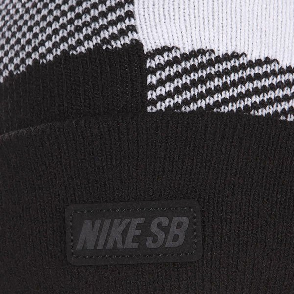 Шапка Nike Sb Buffalo Plaid Pom Sail/Black от Proskater