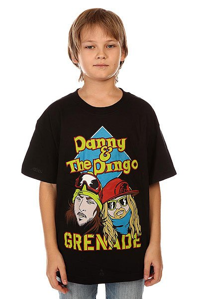 Футболка детская Grenade Danny &amp; Dingo Black<br><br>Цвет: черный<br>Тип: Футболка<br>Возраст: Детский