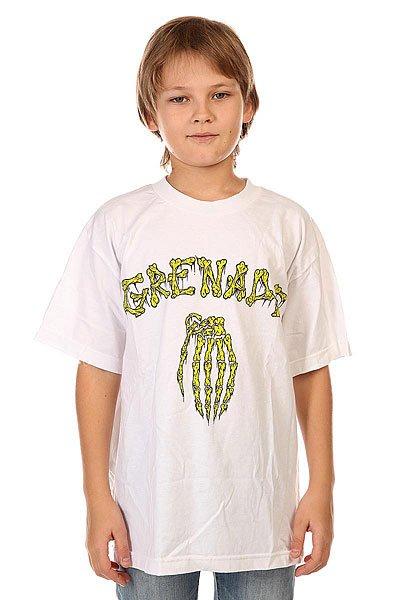 Футболка детская Grenade Bones White<br><br>Цвет: белый<br>Тип: Футболка<br>Возраст: Детский