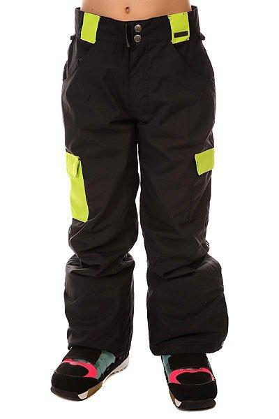 Штаны сноубордические детские Grenade Corp Pant BlackДетские сноубордические штаны от бренда Grenade.Характеристики:Мембрана: 10,000 мм/10,000 гр.Внутренняя нейлоновая подкладка. Вставки из тафты на передней части бедра и задней части ног. Система регулировки ширины штанин. Регулируемый пояс. Система крепления брюк к куртке. Все швы проклеены водонепроницаемой лентой. Вентиляция с внутренней стороны бедра.Двусторонние карманы. Фасон: стандартный расклешенный (regular relaxed fit).<br><br>Цвет: черный<br>Тип: Штаны сноубордические<br>Возраст: Детский