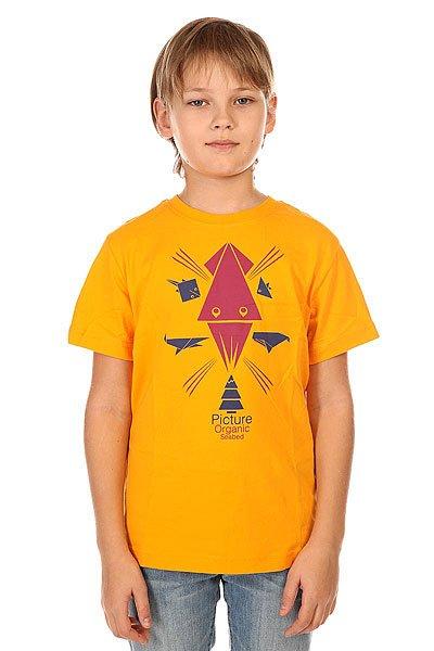 Футболка детская Picture Organic Animal Orange<br><br>Цвет: оранжевый<br>Тип: Футболка<br>Возраст: Детский