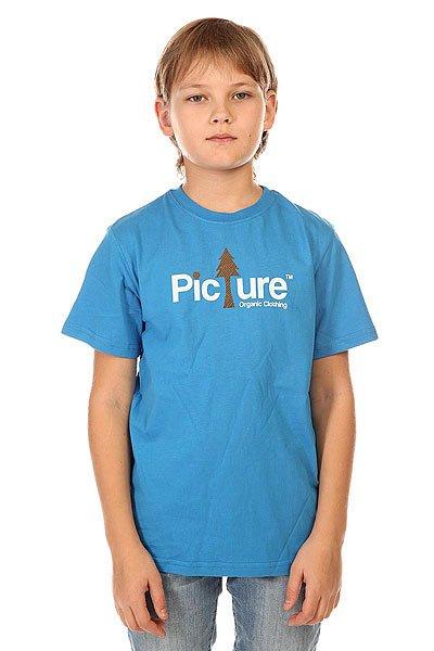 Футболка детская Picture Organic Sherwood Blue<br><br>Цвет: синий<br>Тип: Футболка<br>Возраст: Детский