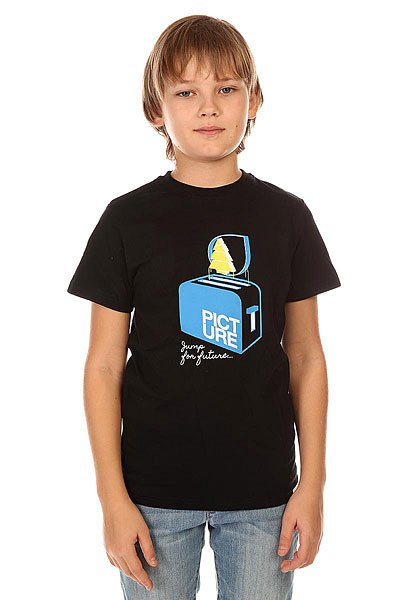 Футболка детская Picture Organic Toaster Tee Black футболка picture organic ski resort black