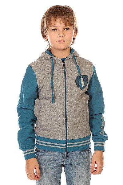 Толстовка классическая детская Picture Organic Basemen Us Sweat Grey Melange<br><br>Цвет: серый,синий<br>Тип: Толстовка классическая<br>Возраст: Детский