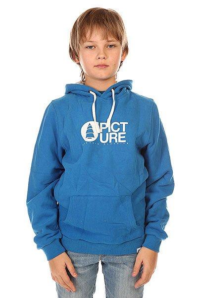 Толстовка кенгуру детская Picture Organic Basement Hood Blue<br><br>Цвет: синий<br>Тип: Толстовка кенгуру<br>Возраст: Детский