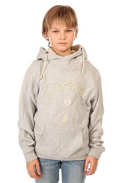 Толстовка кенгуру детская Picture Organic Cornely Grey<br><br>Цвет: серый<br>Тип: Толстовка кенгуру<br>Возраст: Детский