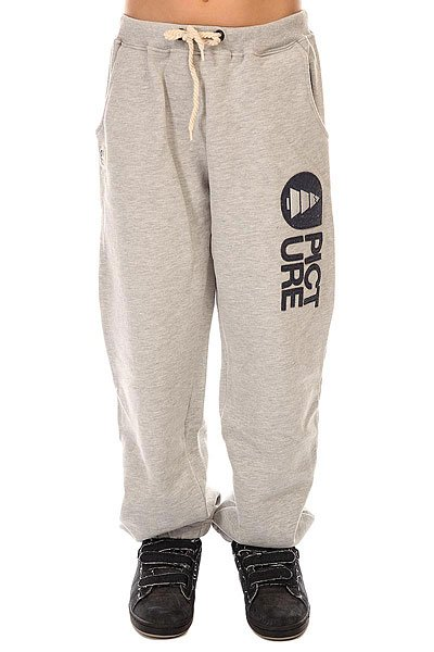Штаны широкие детские Picture Organic Rampe 14 Grey<br><br>Цвет: серый<br>Тип: Штаны спортивные<br>Возраст: Детский