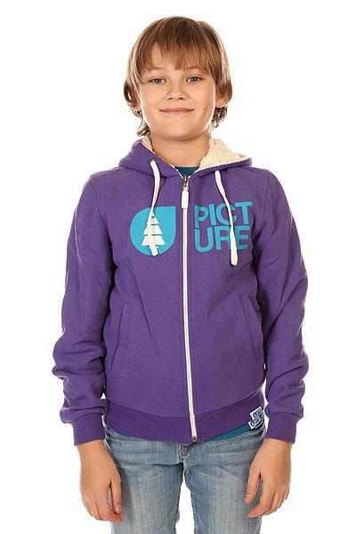 Толстовка утепленная детская Picture Organic Sweat Basement Plush PurpleТеплая детская толстовка из органического хлопка с подкладкой из шерпы.Технические характеристики: Органический хлопок.Теплая подкладка из шерпы.Фиксированный капюшон на шнурках.Эластичные манжеты и подол.Боковые карманы для рук.Застежка на молнии.<br><br>Цвет: фиолетовый<br>Тип: Толстовка утепленная<br>Возраст: Детский