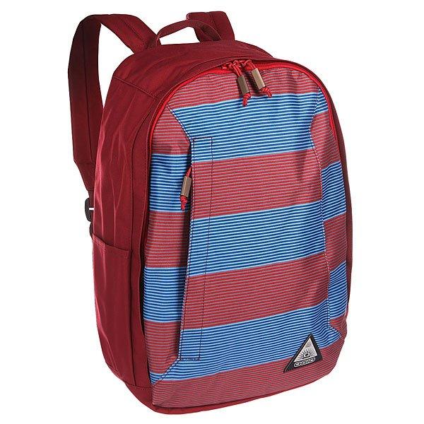 Рюкзак городской Ogio Lewis Pack Biggie StripeКомпактный, но при этом достаточно вместительный рюкзак от Ogio. Имеется специализированный отсек для ноутбука, а также уплотненный карман для ценных вещей на молнии. Внешний передний и боковой карманы на вертикальной молнии обеспечивают быстрый доступ к содержимому, позволяя всегда держать необходимые аксессуары и документы поблизости.Характеристики:Вместительное основное отделение с карманом для ноутбука. Карман для ценных вещей на молнии.Боковой карман для аксессуаров на молнии. Боковой карман для бутылок. Передний карман быстрого доступа на вертикальной молнии.Мягкая задняя панель.<br><br>Цвет: бордовый,синий<br>Тип: Рюкзак городской<br>Возраст: Взрослый