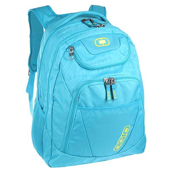 Рюкзак туристический Ogio Tributante Pack Blue OnionОтличный рюкзак, который сочетает в себе как стильный внешний вид, так и высокую технологичность. Имеются специализированные отсеки для ноутбука и планшета, которые позволят Вам не переживать за сохранность техники. Эргономичная мягкая спинка с сетчатыми панелями обеспечивает отличную продуваемость, которая особенно необходима в теплое время года.Характеристики:Отсек с мягкой подкладкой для ноутбука диагональю до 17 дюймов.Мягкий карман для планшета.Карман для ценных вещей на молнии с флисовой подкладкой.Вместительное основное отделение.Мягкая спинка с сетчатыми панелями, обеспечивающими отличную продуваемость.Два сетчатых боковых кармана для бутылок.<br><br>Цвет: голубой<br>Тип: Рюкзак туристический<br>Возраст: Взрослый