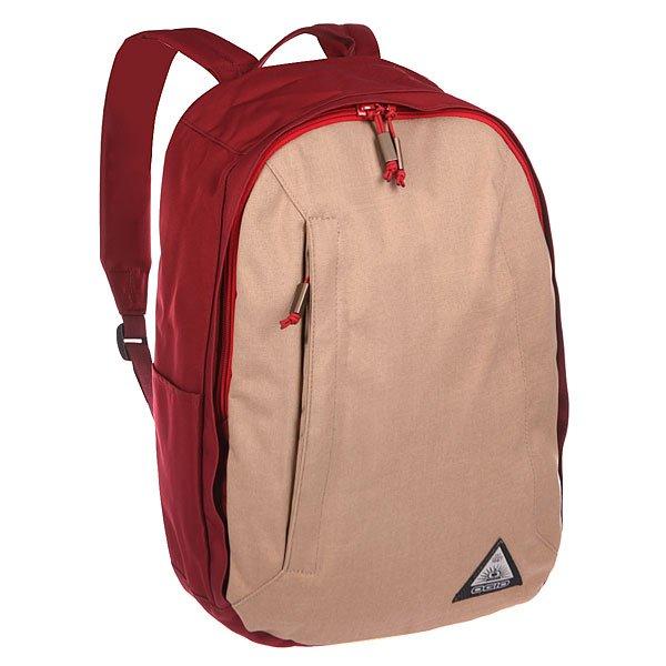Рюкзак городской Ogio Lewis Pack KhakiКомпактный, но при этом достаточно вместительный рюкзак от Ogio. Имеется специализированный отсек для ноутбука, а также уплотненный карман для ценных вещей на молнии. Внешний передний и боковой карманы на вертикальной молнии обеспечивают быстрый доступ к содержимому, позволяя всегда держать необходимые аксессуары и документы поблизости.Характеристики:Вместительное основное отделение с карманом для ноутбука. Карман для ценных вещей на молнии.Боковой карман для аксессуаров на молнии. Боковой карман для бутылок. Передний карман быстрого доступа на вертикальной молнии.Мягкая задняя панель.<br><br>Цвет: бордовый,бежевый<br>Тип: Рюкзак городской<br>Возраст: Взрослый<br>Пол: Мужской