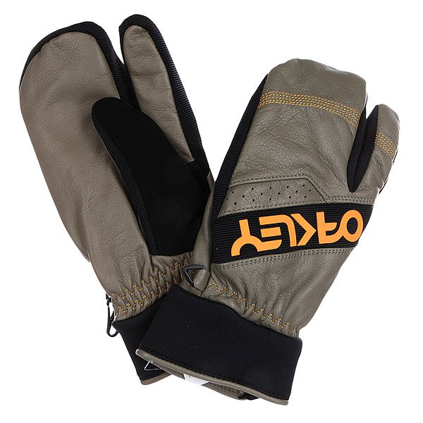 Варежки сноубордические Oakley Factory Winter Trigger Mitt Worn Olive