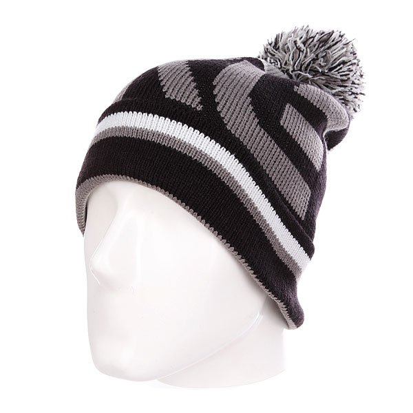 Шапка Oakley Factory Winter Beanie Black<br><br>Цвет: серый,черный<br>Тип: Шапка<br>Возраст: Взрослый<br>Пол: Мужской
