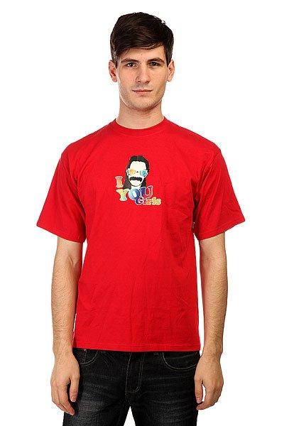 Футболка Apo Moustache Red<br><br>Цвет: красный<br>Тип: Футболка<br>Возраст: Взрослый<br>Пол: Мужской