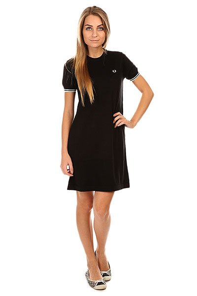 ������ ������� Fred Perry Knitted Dress Black