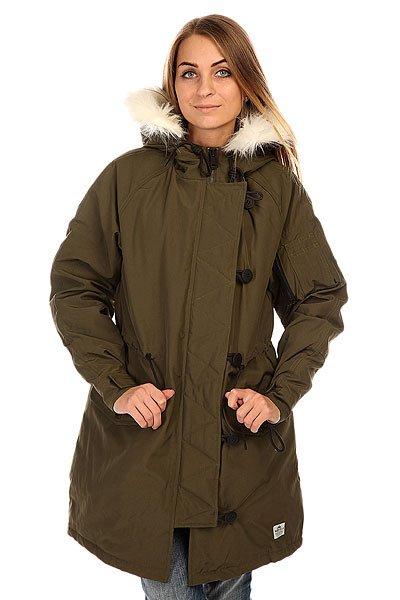 Куртка парка женская Penfield Paxton Long Insulated Snorkle Jacket LichenОбновленная версия излюбленной зимней парки для стильных леди, которые заботятся о своем стиле в любое время года.Характеристики:Внутренняя подкладка из стеганой тафты. Фиксированный капюшон.  Подкладка для подбородка из микрофибры.  Застежка-молния + пуговицы. Регулируемые манжеты. Утепленные карманы для рук. Регулировка ширины пояса.Фасон: парка (parka).<br><br>Цвет: зеленый<br>Тип: Куртка парка<br>Возраст: Взрослый<br>Пол: Женский