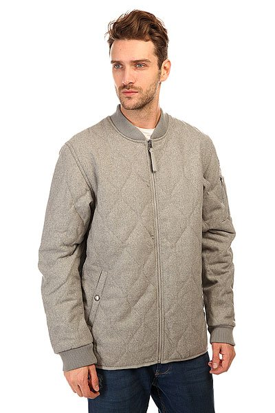 Бомбер DC Shoes Bombing Wool Jckt Heather Grey