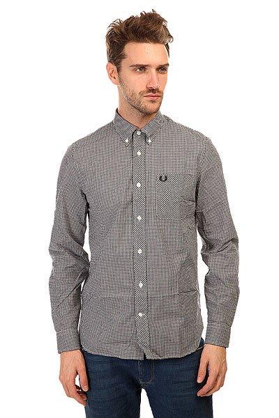 Рубашка в клетку Fred Perry Classic Gingham L/S Shirt Black/White<br><br>Цвет: черный,белый<br>Тип: Рубашка в клетку<br>Возраст: Взрослый<br>Пол: Мужской
