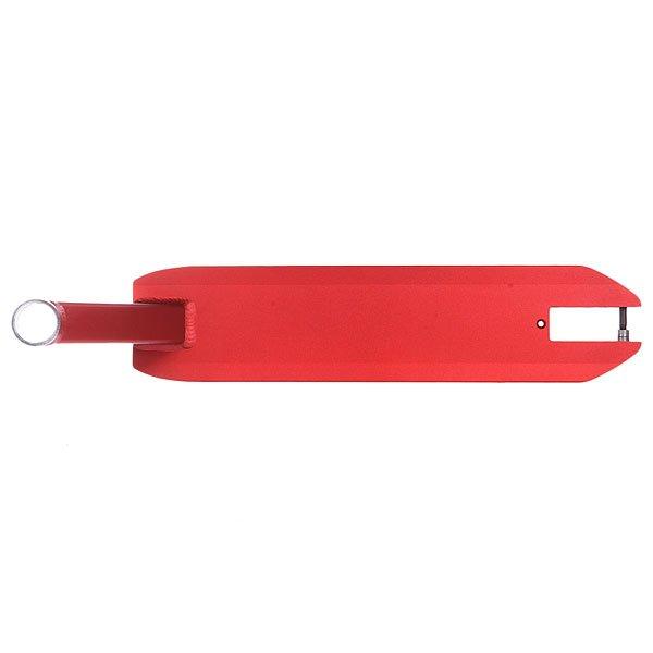 Дека для скейтборда для самоката Phoenix Standard 4.50 X 20.0 Deck RedДека для самокатов Phoenix.Технические характеристики: Материал - Алюминий.Интегрированный рулевой стакан.Угол рулевого стакана 82,5 ?.Ширина - 11,43 см.Длина - 50,80 см.<br><br>Цвет: красный<br>Тип: Дека для самоката