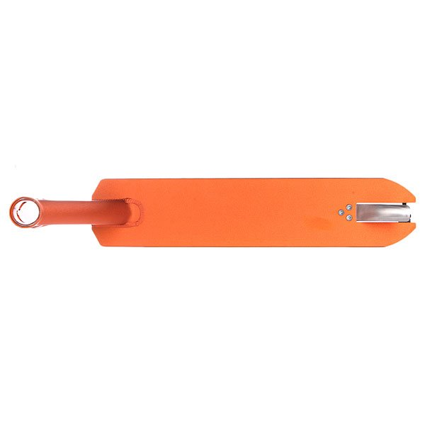 Дека для скейтборда для самоката Phoenix Ion 4.5 X 20 OrangeДека для самокатов Phoenix.Технические характеристики: Материал - алюминиевый сплав 6061.Интегрированный рулевой стакан.Угол рулевого стакана 82,5 ?.Ширина - 11,43см.Длина - 50,80 см.Комплектуется осью и спейсерами для заднего колеса.<br><br>Цвет: оранжевый<br>Тип: Дека для самоката