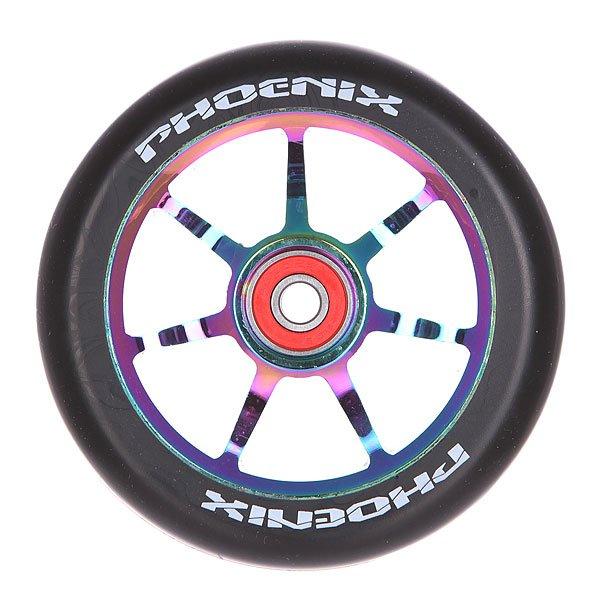 Колесо для самоката Phoenix Alloy Core Wheel Twin Pack Neo Chrome/BlackНабор колес для самокатов Phoenix. Характеристики:Набор из двух колес. Диаметр: 110 мм.<br><br>Цвет: черный<br>Тип: Колесо для самоката
