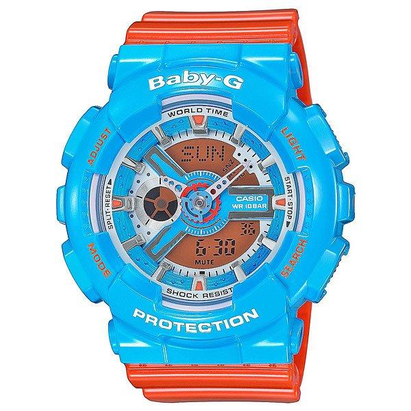 Часы женские Casio G-Shock Baby-G Ba-110Nc-2ACASIO BABY-G это элегантная серия унисекс-часов, детских и женских спортивных моделей.Часы BABY-G включают в себя функционал и возможности противоударных часов из мужской линии G-SHOCK и в то же время являются стильным спортивным аксессуаром дизайнерской направленности. Характеристики:Электрическая подсветка - для освещения циферблата используется светодиод. Отображение текущего времени в основных городах и регионах мира. Секундомер с точностью показаний 1/100 сек и максимальным временем измерения - 24 час. Таймер обратного отсчета. 5 ежедневных будильников. Функция повтора сигнала будильника (Snooze).Автоматический календарь. Отображение 12-ти и 24-х часового формата времени.Отключение звука. Особая ударопрочная конструкция защищает от ударов и вибрации.Корпус выполнен из пластика. Минеральное стекло устойчивое к возникновению царапин. Ремешок из полимерного материала.  Водонепроницаемость 10 atm (100 м).<br><br>Цвет: синий<br>Тип: Электронные часы<br>Возраст: Взрослый<br>Пол: Женский