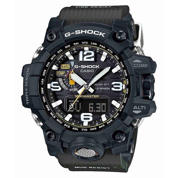 Часы Casio G-Shock Gwg-1000-1A3Еще одной моделью, представленной на недавно прошедшем BaselWorld 2015, стали новые часы CASIO G-Shock GWG-1000-1A3, выполненные в грязезащитной версии корпуса «Mud Master». Экспериментируя исключительно с дизайном часов, специалисты CASIO сделали в данной модели более привычную систему управления с функциональной кнопкой на фронтальной поверхности и обеспечили ее дополнительной виброзащитой, благодаря вставкам из Alpha GEL® по бокам и снизу модуля-механизма. Функциональные возможности GWG-1000 остались без изменения. Характеристики:Двойная электролюминесцентная подсветка.Ударопрочный модуль. Двойная защита от грязи, пыли. Защита от вибраций, ударов, центробежной силы. Сапфировое стекло. Кнопочные отсеки с герметичными каучуковыми прокладками. Цифро-аналоговый циферблат. Кварцевый механизм.Устойчивы к колебаниям давления и температуры. Завинчивающаяся заводная головка. Цифровой компас. Альтиметр. Барометр. Таймер. Термометр. Секундомер. Мировое время. Радиосинхронизация. Солнечная батарея. Формат времени – 12/24.Неоновый дисплей. График набора высоты. Память данных высотометра. 5 независимых будильников. Ручная автоматическая настройка – корректировка текущего времени после удара и прочего воздействия. Отключение/включение тона функциональных кнопок.Автоматический календарь. Индикатор уровня заряда.Пластиковый корпус.Полимерный браслет. Металлическая задняя крышка.Водостойкость – 200 метров.Тип элемента питания — CTL1616.<br><br>Цвет: черный<br>Тип: Кварцевые часы<br>Возраст: Взрослый<br>Пол: Мужской