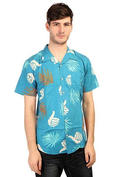 Рубашка Bro Style Tropic Print Shirt BlueПестрая летняя рубашка с коротким рукавом, украшенная фирменной символикой.Технические характеристики:Фасон стандартный (Regular fit).Отложной воротник.Короткий рукав.Нагрудный карман.Застежка - пуговицы.<br><br>Цвет: синий<br>Тип: Рубашка<br>Возраст: Взрослый<br>Пол: Мужской