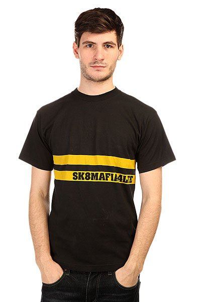 Футболка Sk8mafia Street Black<br><br>Цвет: черный<br>Тип: Футболка<br>Возраст: Взрослый<br>Пол: Мужской