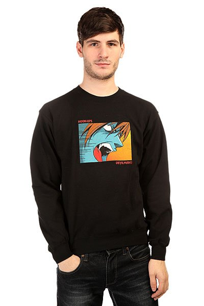 Толстовка классическая Hook-Ups Devilman 13 Crewneck Black hook ups counter attack
