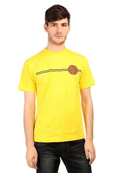 Футболка Santa Cruz Classic Dot YellowФутболки с нестандартными и красочными принтами от известного бренда Santa Cruz, качественные и стильные.Технические характеристики: Фасон стандартный (Regular fit).Яркий принт на груди.Объемный принт на спине.<br><br>Цвет: желтый<br>Тип: Футболка<br>Возраст: Взрослый<br>Пол: Мужской