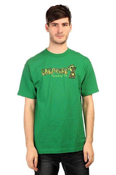 Футболка Creature Ruined My Life Kelly GreenПринты в футболках Creature действительно неповторимы. Где еще Вы встретите такой пугающе-симпатичный рисунок на одежде? Только в Creature!Технические характеристики: Фасон стандартный (Regular fit).Яркий принт на груди.Логотип на спине.<br><br>Цвет: зеленый<br>Тип: Футболка<br>Возраст: Взрослый<br>Пол: Мужской