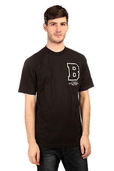 Футболка Plan B Letterman Black<br><br>Цвет: черный<br>Тип: Футболка<br>Возраст: Взрослый<br>Пол: Мужской