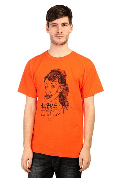 Футболка Slave You Want Some? Orange<br><br>Цвет: оранжевый<br>Тип: Футболка<br>Возраст: Взрослый<br>Пол: Мужской