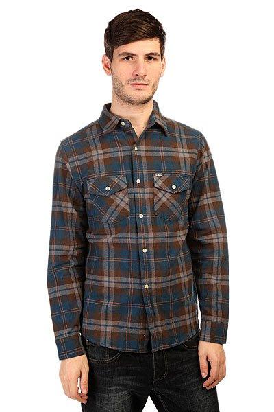 Рубашка в клетку Slave Flannel Blue<br><br>Цвет: синий,серый,коричневый<br>Тип: Рубашка в клетку<br>Возраст: Взрослый<br>Пол: Мужской
