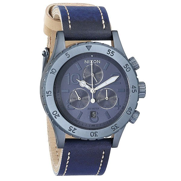 Часы женские Nixon Chrono Leather All Indigo/Natural