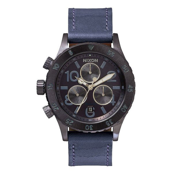 Часы женские Nixon Chrono Leather All Indigo/Natural часы nixon re run leather all black