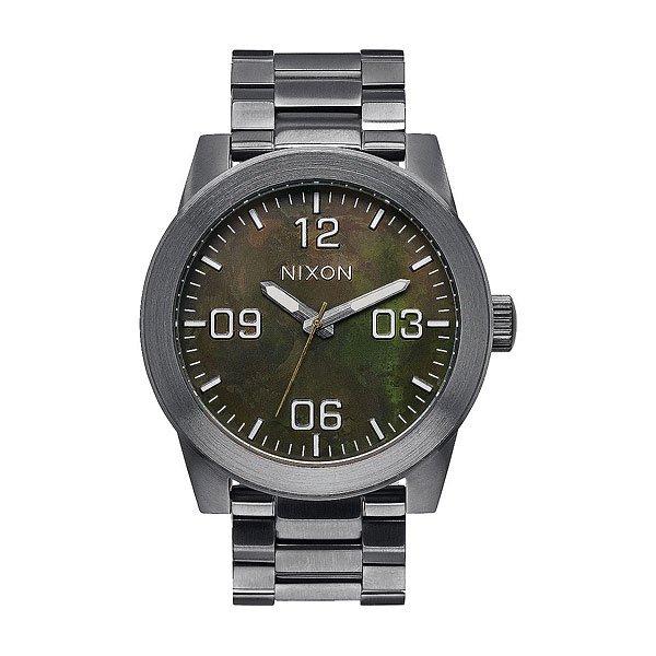 Часы Nixon Corporal Ss Gunmetal/Green Oxyde часы nixon corporal ss matte black industrial green