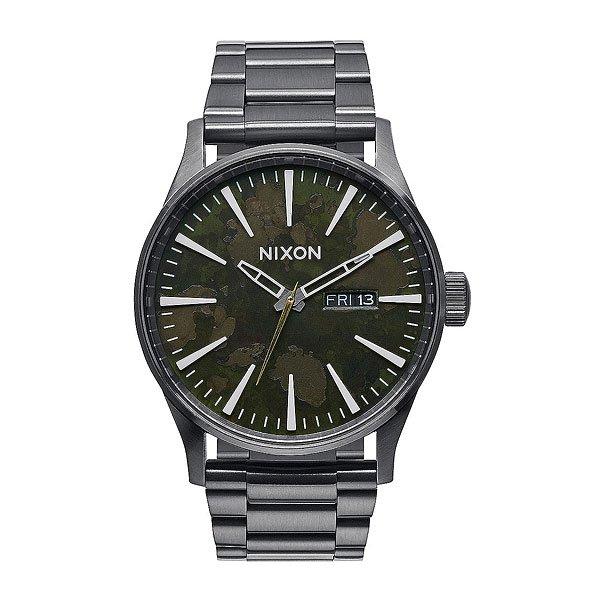 Часы Nixon Sentry Ss Gunmetal/Green Oxyde кварцевые часы nixon sentry ss purple