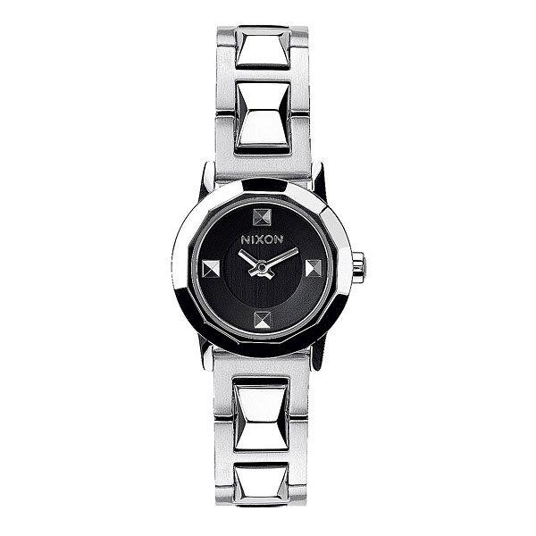 Часы женские Nixon Mini B Ss BlackСтильные женские часы в мини-версии. Граненый циферблат и ремень делают часы строгими и современными.Технические характеристики: Японский кварцевый механизм.2 стрелки.Функции: часы, минуты.Корпус: нержавеющая сталь.Закаленное минеральное стекло.Водонепроницаемость 50 м - 5 атмосфер.Диаметр: 22 мм.<br><br>Цвет: серый<br>Тип: Кварцевые часы<br>Возраст: Взрослый<br>Пол: Женский