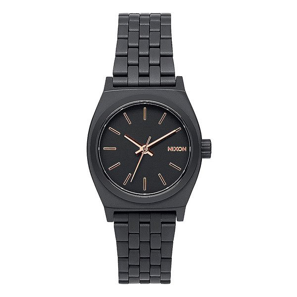 Часы женские Nixon Small Time Teller All Black/Rose Gold