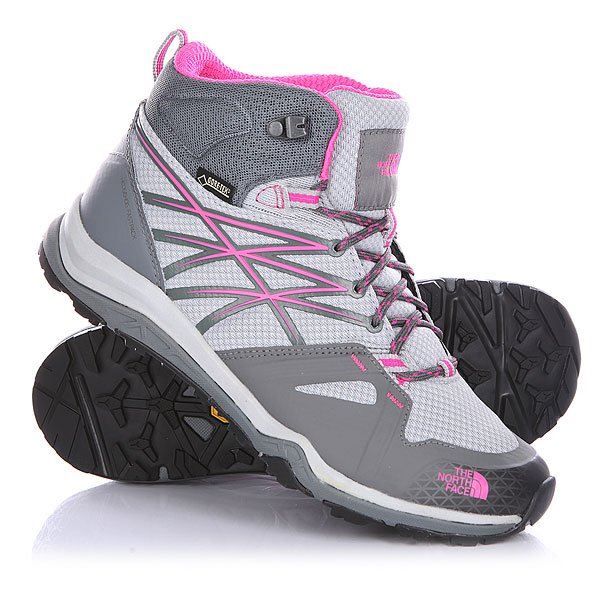 Ботинки низкие женские The North Face Hedgehog Fastpack Lite Mid GTX Sedona Sage Grey/Glo Pink