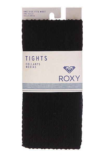 Колготки женские Roxy Footed Opaque Cable Tights True Black от Proskater