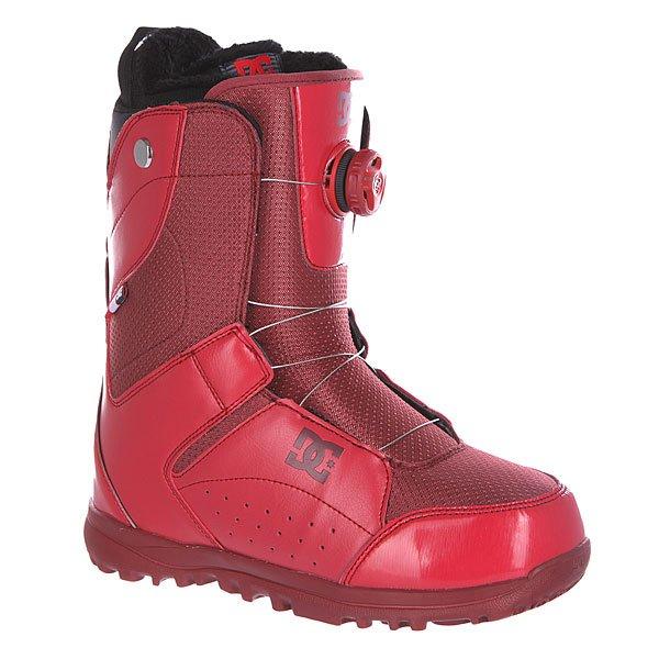 Ботинки для сноуборда женские DC Search SyrahЖенские сноубордические ботинки Search из сноубордической коллекции DC Shoes.Технические характеристики: Шнуровка Boa® H3 Coiler Closure System.Текстильная подкладка.Подошва Foundation UniLite -  запатентованная технология обеспечивает прочность, амортизацию, устойчивость к деформации и маленький вес. Она сконструирована так, чтобы избежать налипания снега.Внутренний сапог Red.Базовая стелька Snow Basic.<br><br>Цвет: бордовый<br>Тип: Ботинки для сноуборда<br>Возраст: Взрослый<br>Пол: Женский