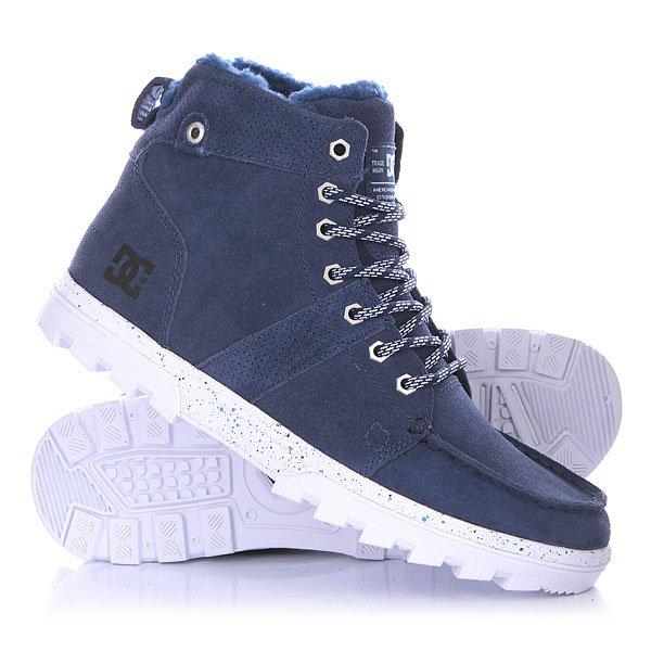 Ботинки зимние DC Woodland BlueМужские ботинки Woodland от DC Shoes.Технические характеристики: Обеспечивают полноценное тепло и комфорт.Замшевый верх.Подкладка из шерпы.Круглая шнуровка.Шестигранные металлические люверсы.Удобные язык и лодыжка с пенным наполнителем.Грубая подошва.<br><br>Цвет: синий<br>Тип: Ботинки зимние<br>Возраст: Взрослый<br>Пол: Мужской