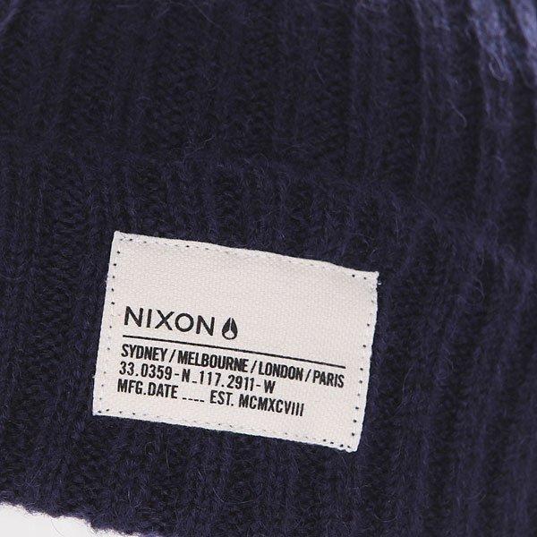 4241f31af46ed Купить шапку Nixon Marshall Beanie Navy Heather в интернет-магазине ...