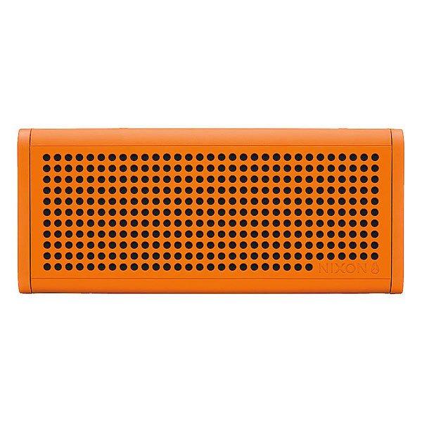 Колонка Nixon Blaster Pro OrangeСделайте свою жизнь более насыщенной с  ясным, четким звуком, Bluetooth технологиями и отличным дизайном.Технические характеристики: Bluetooth подключение позволяет слушать музыку без проводов.Беспроводной диапазон - 10 метров.Мощность - <br>5В RMS x 2.Частота - 200 - 20000 Гц.Водонепроницаемые и ударопрочные.Возможно соединить два динамика для стерео звука. Аккумуляторная батарея с дополнительной емкостью до 10 часов.Удобные кнопки громкости и воспроизведения для дистанционного управления вашей музыкой.Вспомогательный стерео вход для подключения проводных устройств с помощью прилагаемого аудио кабеля.В комплект входит - USB кабель для зарядки, AUX аудио кабель,USB адаптер.<br><br>Цвет: оранжевый<br>Тип: Колонка