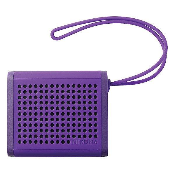 Колонка Nixon Mini Blaster PurpleСделайте свою жизнь более насыщенной с  ясным, четким звуком, Bluetooth технологиями и отличным дизайном.Технические характеристики: Bluetooth подключение позволяет слушать музыку без проводов.Беспроводной диапазон - 10 метров.Мощность -   3В RMS x 2.Частота - 200 - 20000 Гц.Водонепроницаемые и ударопрочные.Возможно соединить два динамика для стерео звука. Аккумуляторная батарея с дополнительной емкостью до 10 часов.В комплект входит - USB кабель для зарядки, AUX аудио кабель,USB адаптер.<br><br>Цвет: фиолетовый<br>Тип: Колонка<br>Возраст: Взрослый