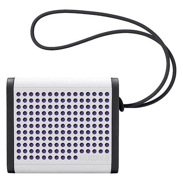 Колонка Nixon Mini Blaster White/Black/PurpleСделайте свою жизнь более насыщенной с  ясным, четким звуком, Bluetooth технологиями и отличным дизайном.Технические характеристики: Bluetooth подключение позволяет слушать музыку без проводов.Беспроводной диапазон - 10 метров.Мощность - <br>3В RMS x 2.Частота - 200 - 20000 Гц.Водонепроницаемые и ударопрочные.Возможно соединить два динамика для стерео звука. Аккумуляторная батарея с дополнительной емкостью до 10 часов.В комплект входит - USB кабель для зарядки, AUX аудио кабель,USB адаптер.<br><br>Цвет: белый,черный,фиолетовый<br>Тип: Колонка